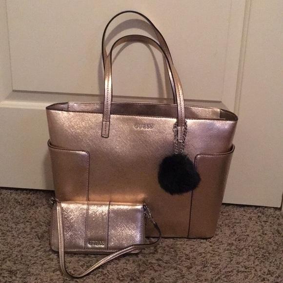 ecedbf6e7e3 Guess Bags   Rose Gold Purse And Wallet   Poshmark